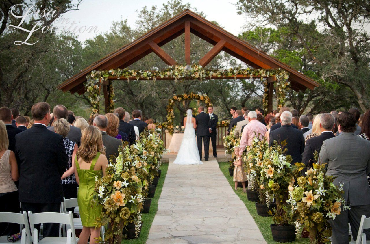outdoor wedding venues texas outdoor wedding ceremony