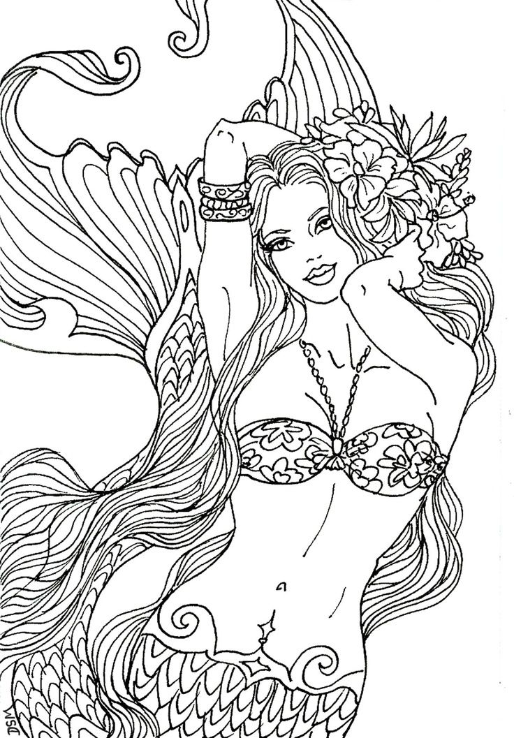Sereia Mermaid Coloring Page