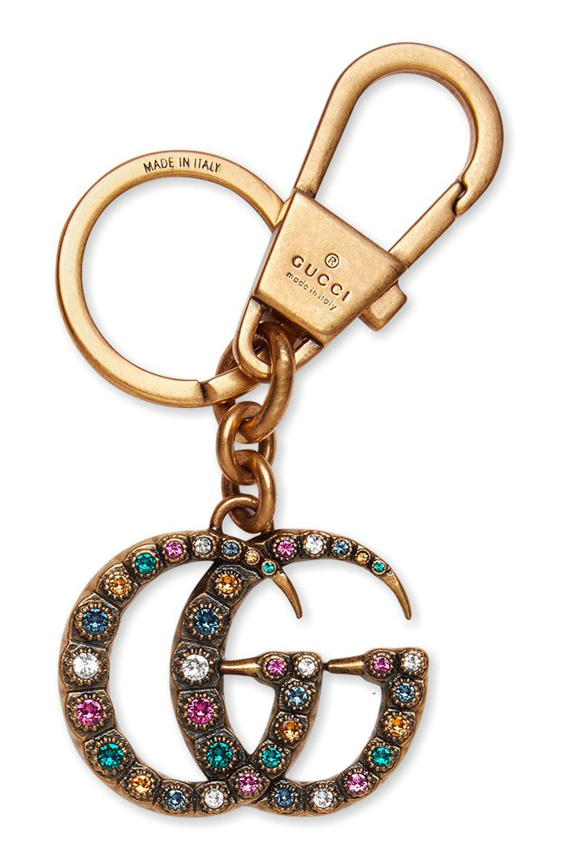 5032f4d5721 Gucci Crystal Embellished Double-G Bag Charm
