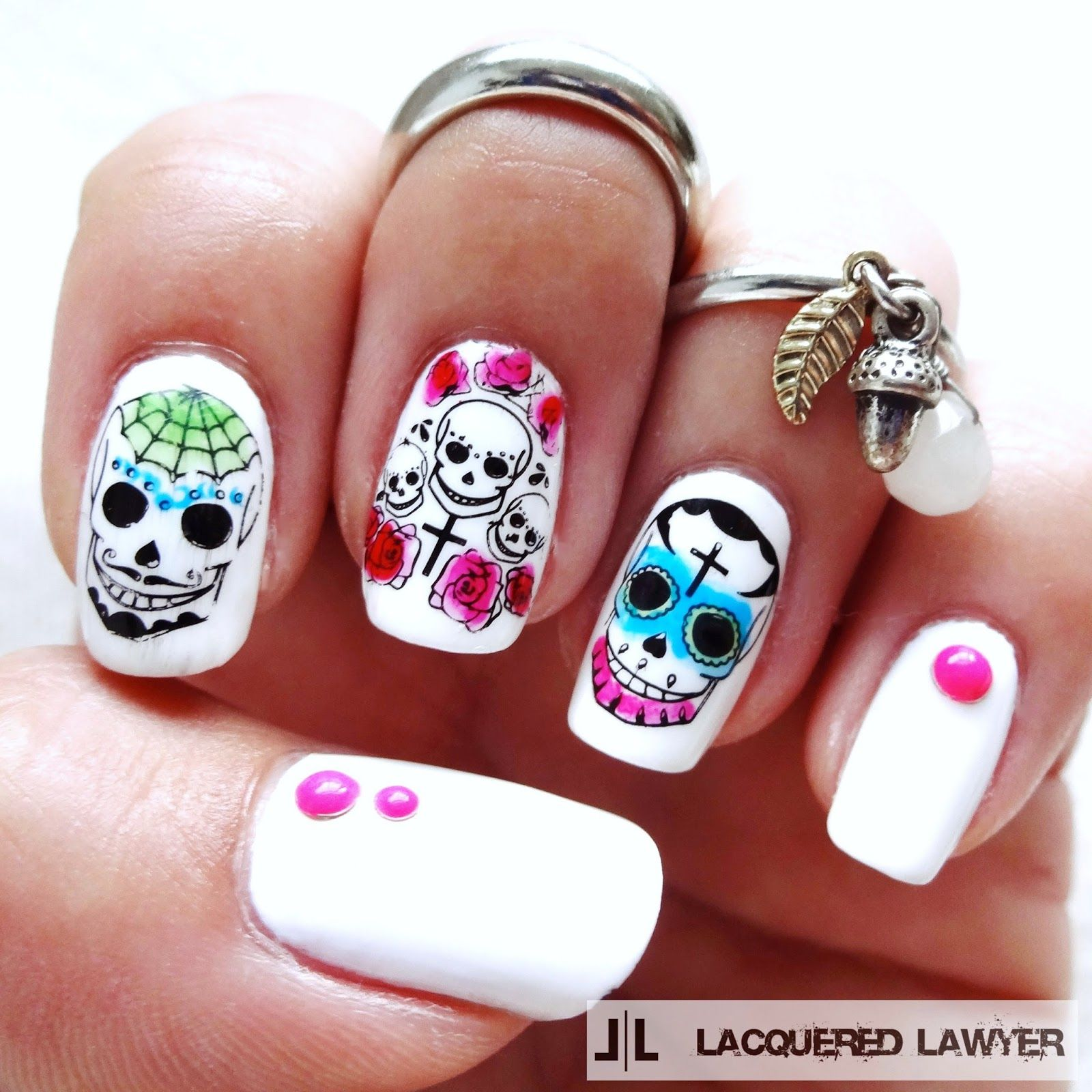 Dia De Los Muertos | Nail art blog, Skull nails and Sugar skull nails