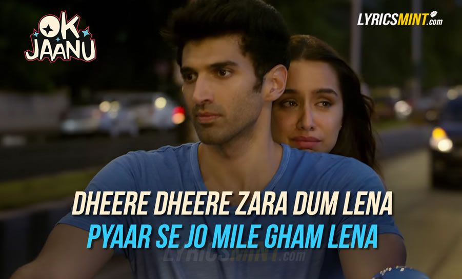 Lyric song title by lyrics : Ok Jaanu Title Song