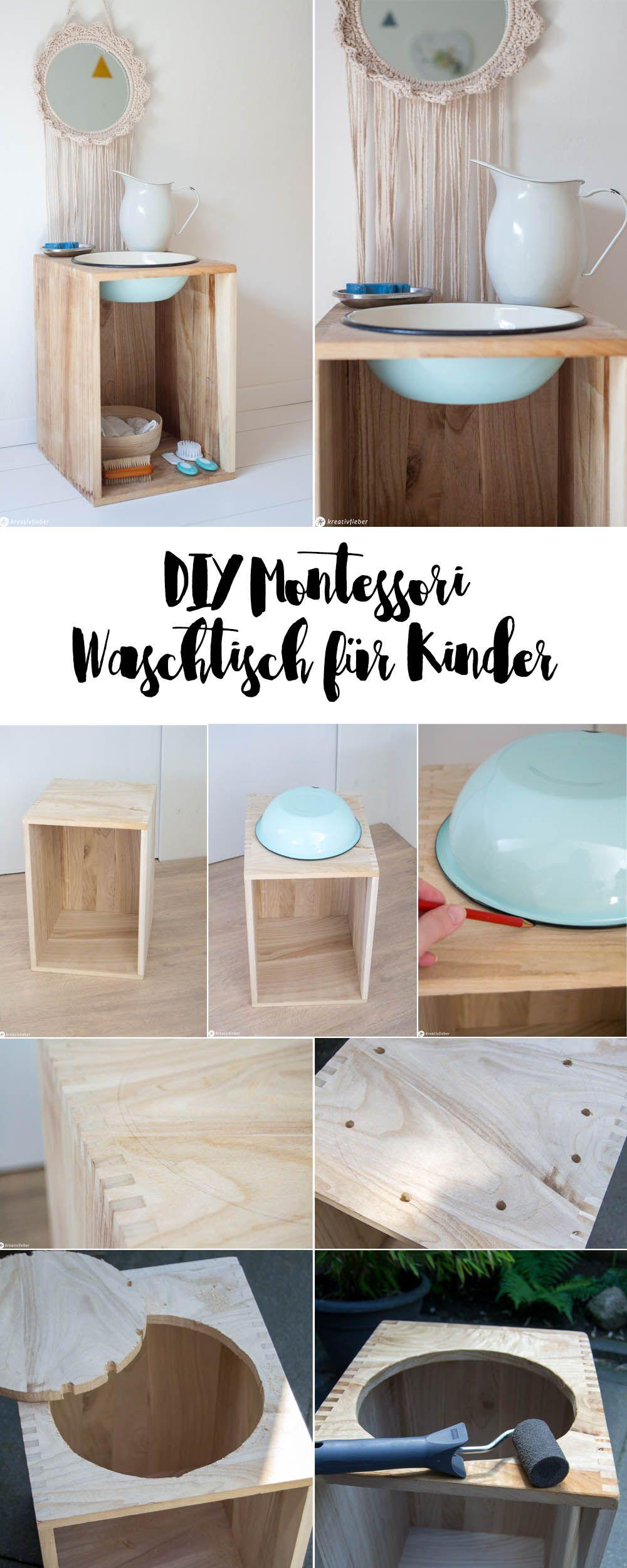 DIY Montessori Waschtisch für Kinder Waschtisch klein