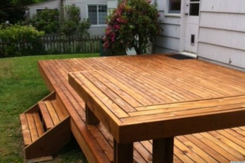 Exterior Building Awesome Deck For Your Backyard Awesome Square
