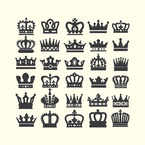 Crown Svg Crown Clipart Queen Crown King Crown Princess Etsy In 2021 Crown Clip Art Crown Tattoo Vector Icons Free