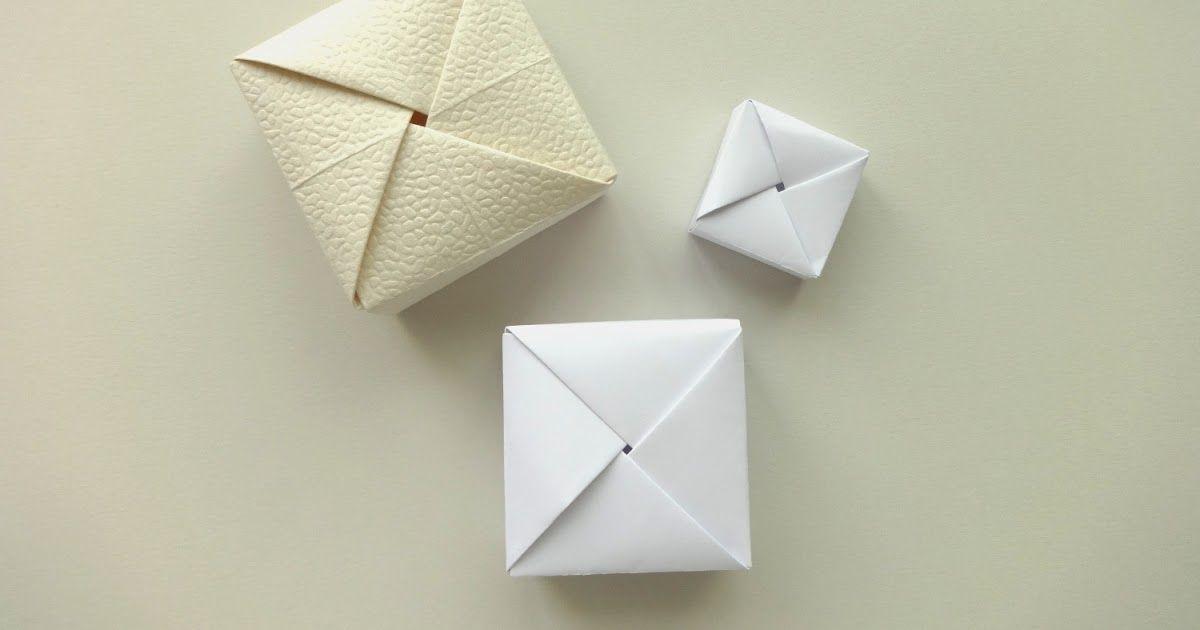Origami Square Box Anke Pinterest Papier Quadrat Und Material