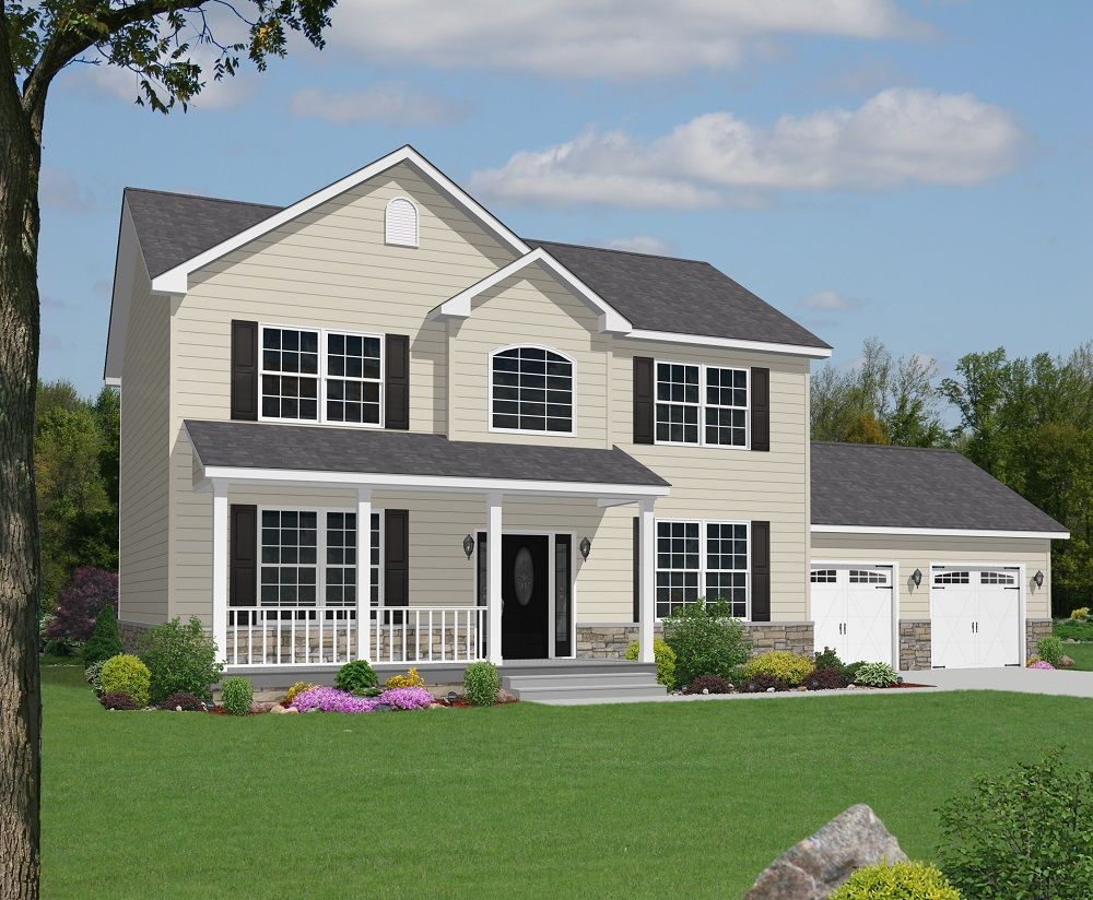 the astoria with optional 7 0 12 pitch roof second floor bump out the astoria with optional pitch roof second floor bump out with dormers attached garage site built porch other optional features shown