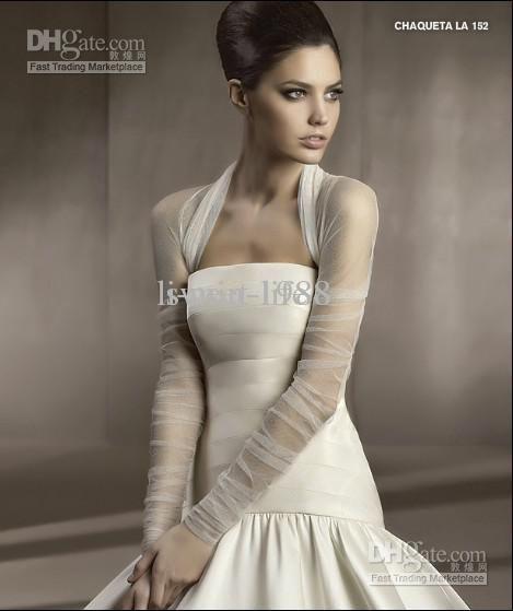 Custom 2012 New Tulle Long Sleeve Bolero Wrap Jacket For Wedding ...