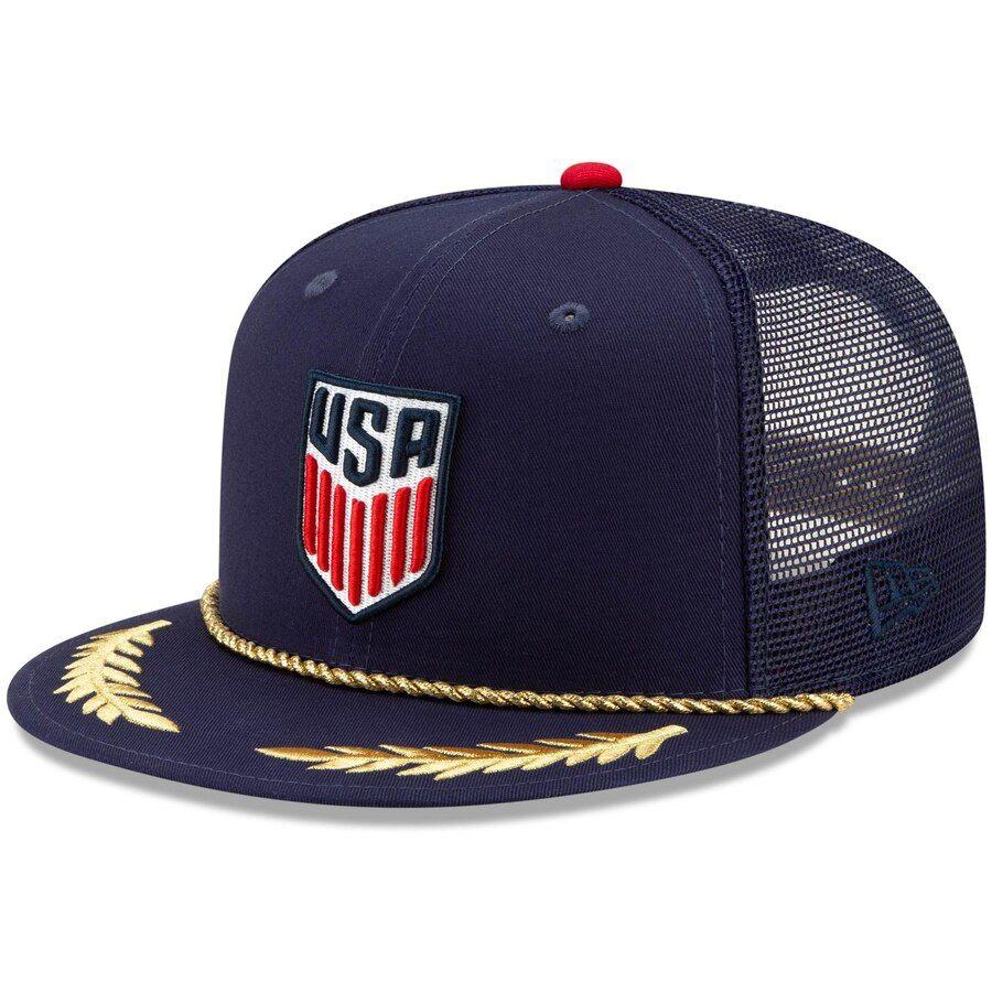 Men S Us Soccer New Era Navy Scrambled 9fifty Adjustable Snapback Hat Your Price 33 99 Us Soccer Soccer Usmnt