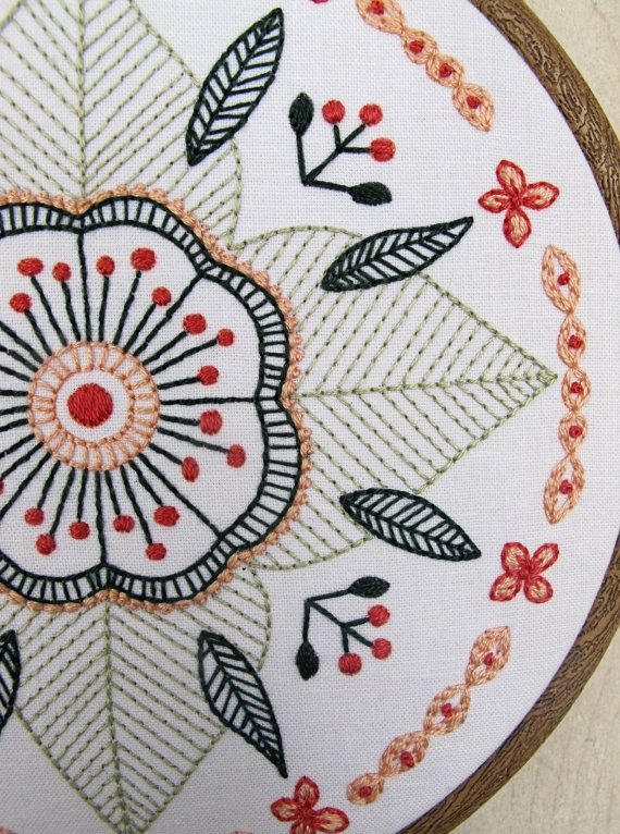 FLORAL MANDALA pdf embroidery pattern circular flower by cozyblue ...
