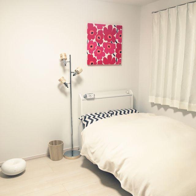ベッド周り 寝室 1ldk 北海道 賃貸でも楽しく などのインテリア実例 2016 09 23 20 23 21 Roomclip ルームクリップ インテリア ベッド 寝室