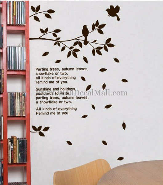 Parting Tree Autumn Leaves Wall Decals WallDecalMallcom Tree - Wall decals leaves