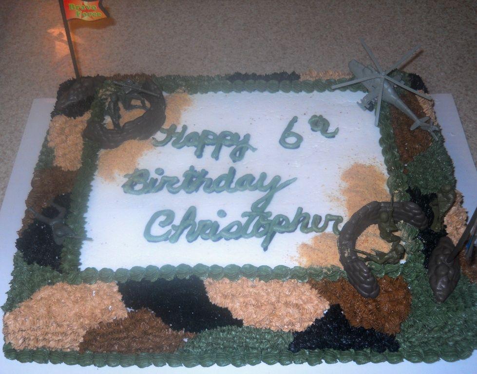 Camo army man birthday cake Cakes Ive Made Pinterest Men