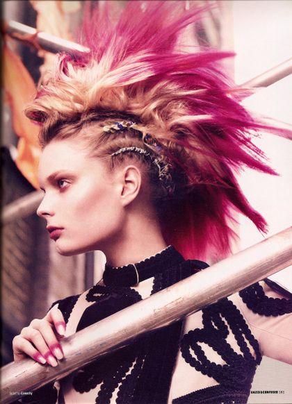 Pink Punk Haar Styling Coole Frisuren Rosa Frisuren