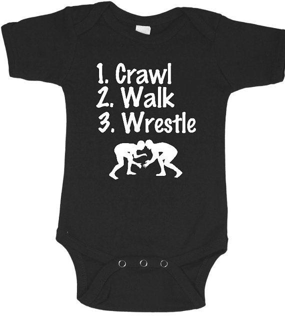 Wrestle Baby one piece, future wrestler, wrestle baby shirt, wrestle bodysuit, wrestle baby boy, infant wrestle shirt, wrestle baby gift #babyshirts