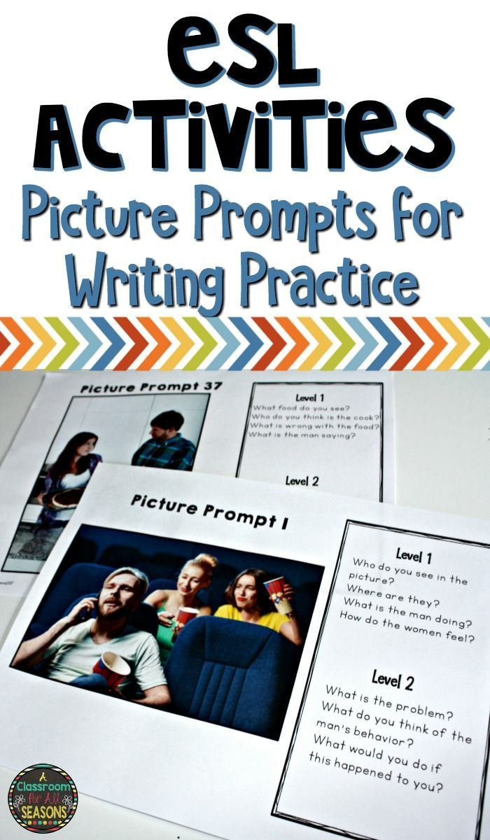 Writing prompts for esl students