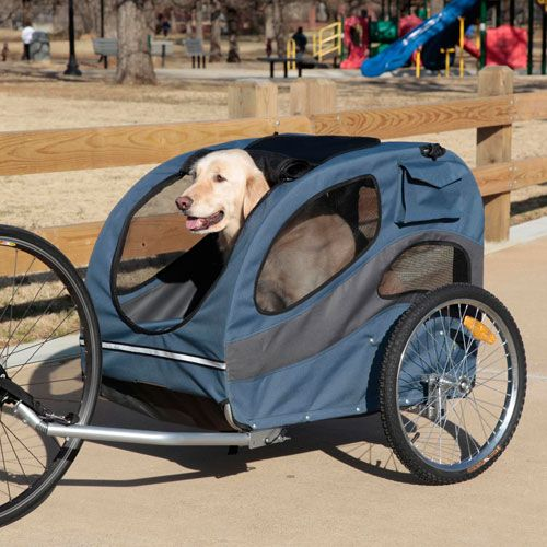 Pull Behind Bicycle Trailer For Your Dog Converts To A Stroller Also