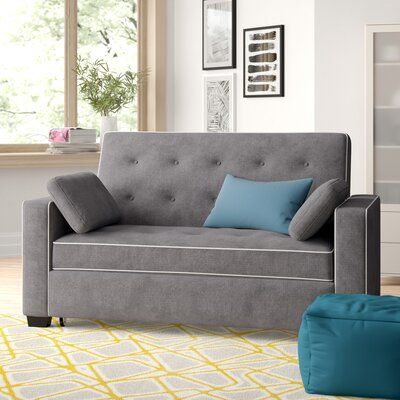 Zipcode Design Evan Convertible Sleeper Upholstery Color Grey