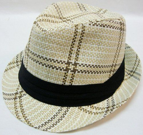 396803cbf49ef Summer Fedora Black Band Cuban Style Upturn Short Brim Hat-S M