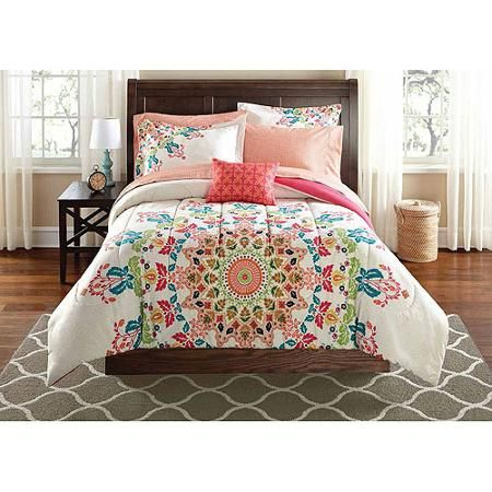Mainstays Bed In A Bag Bedding Set Walmartcom College