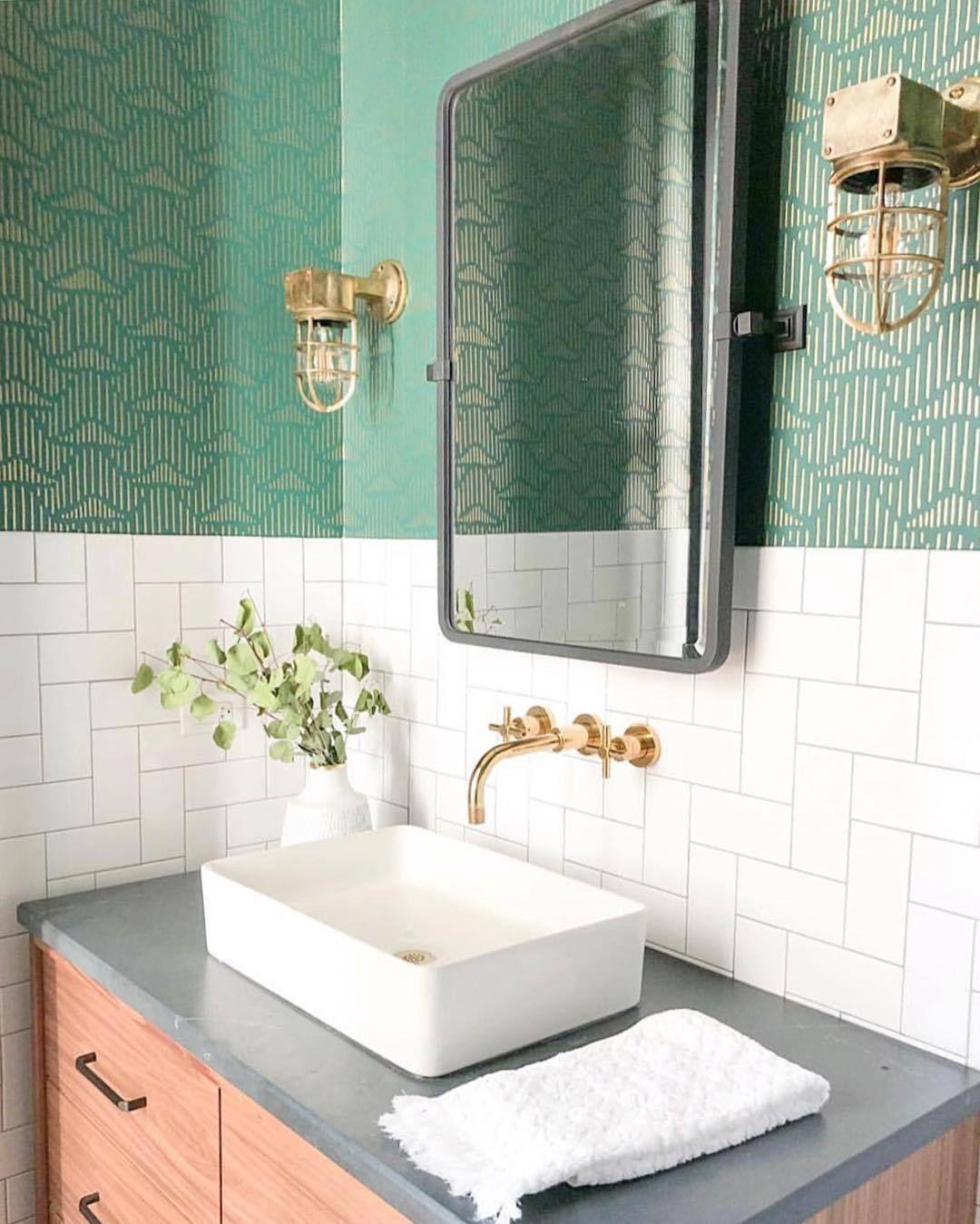 Pattern Stories Rustic Bathroom Decor Green Bathroom Bathroom Decor Green bathroom decorating ideas