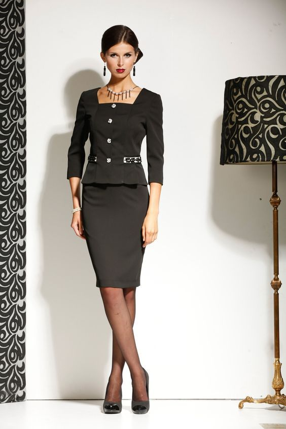 Women business suits formal office suits work blazer set new 2015 ...