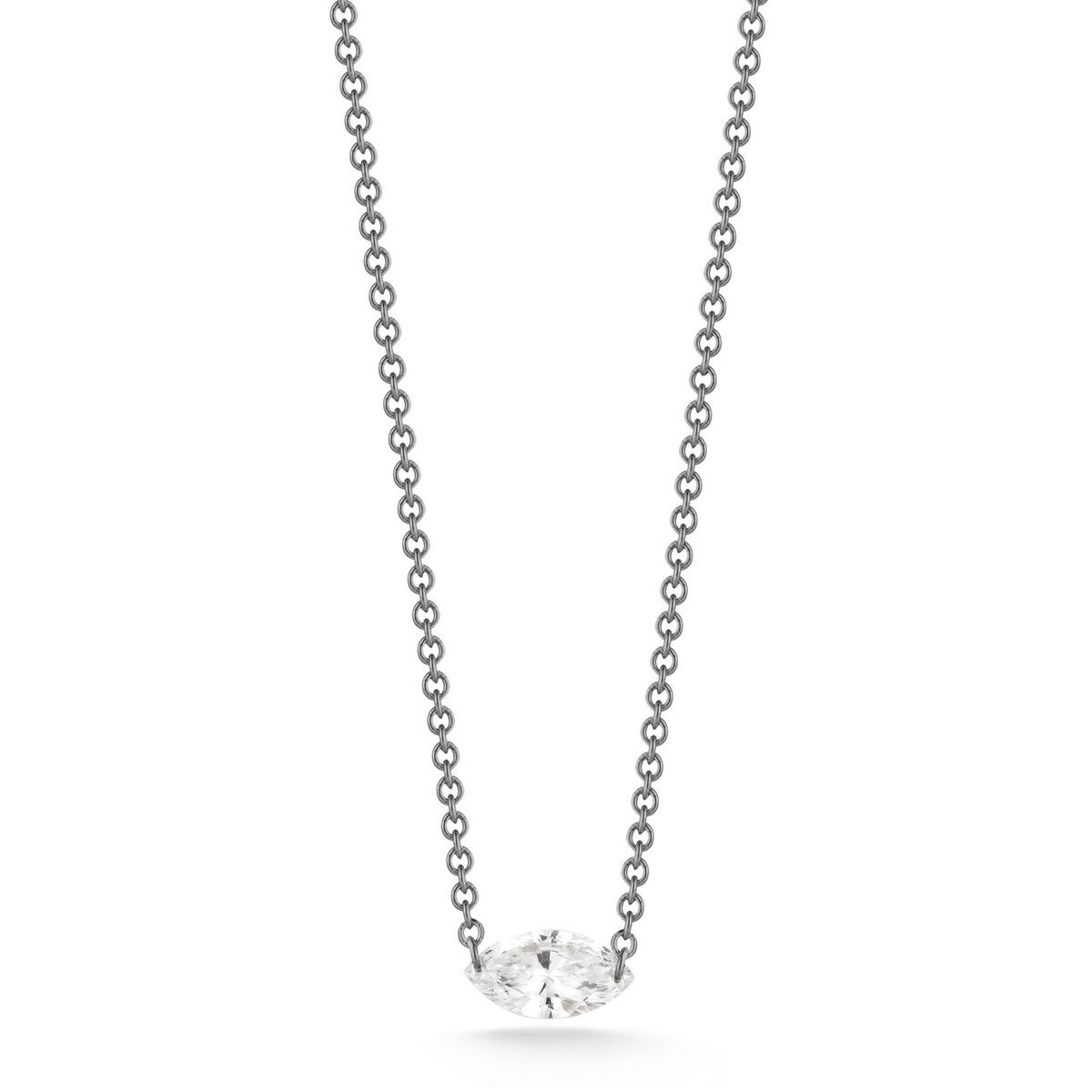 14 karat laser drilled diamond necklace with adjustable chain aero diamonds single kiss necklace in gold with platinum wire by aero diamonds for royal india usa mozeypictures Image collections