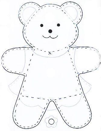 Simple Teddy Bear Pattern Google Search Teddy Bear Patterns