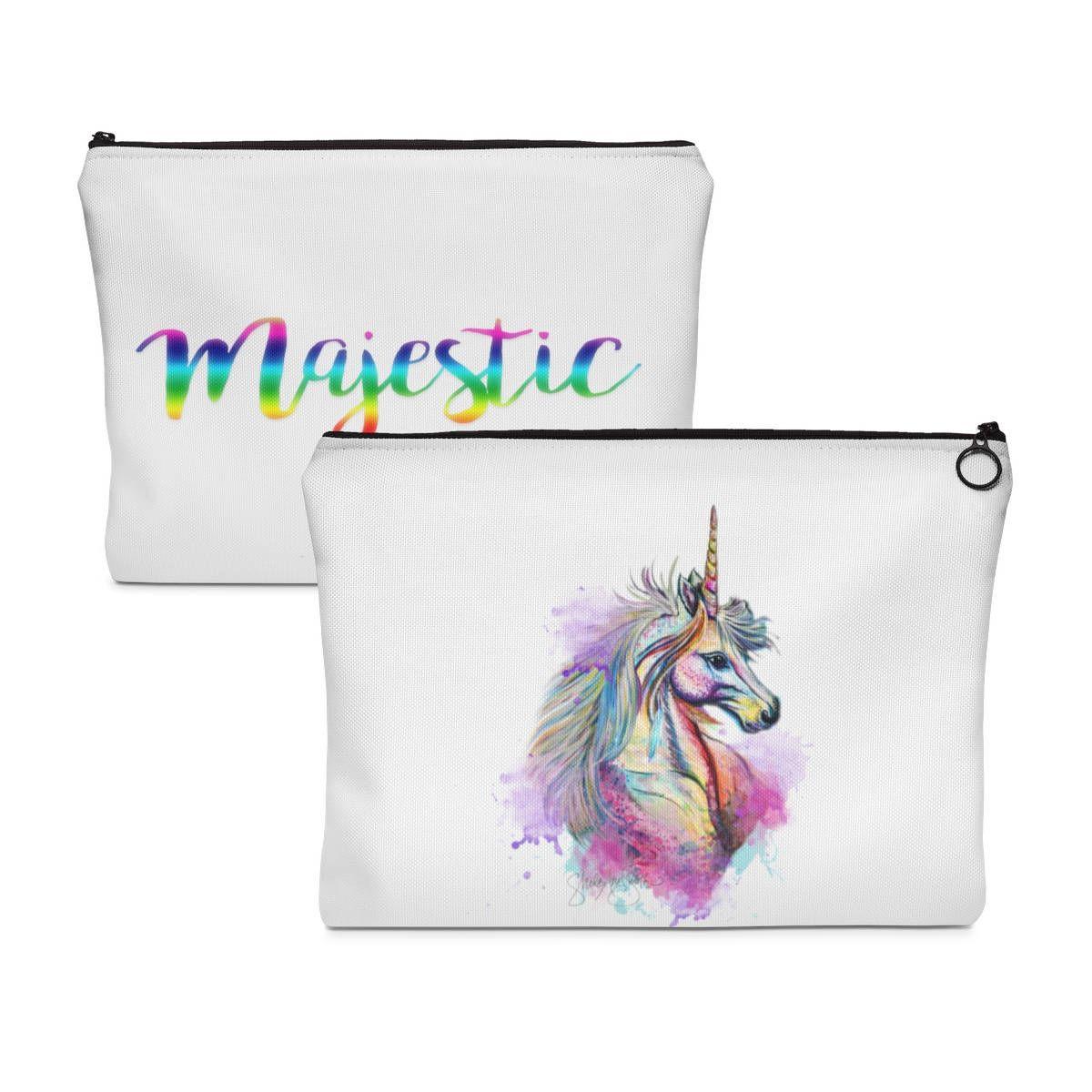Majestic Unicorn makeup bag, Unicorn Carry All Pouch