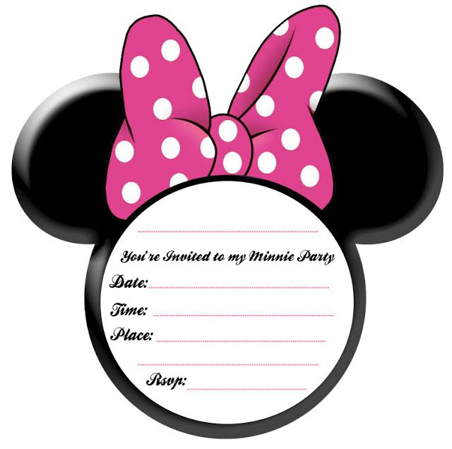 Minnie Mouse Birthday Party Invitation Template Free – Mickey and Minnie Party Invitations