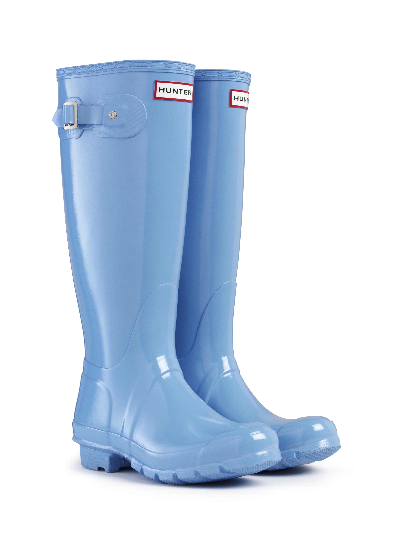 Hunter Original Tall Gloss Wellington Boots – Cornflower | Country Attire