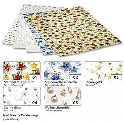 Folia Transparentpapier 115g//m² 50,5x70cm 5 Rollen