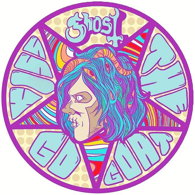 Repost Childrenofghost Groovy Artwork By Maca Licious Cog Homies Ghostnola Legionofghost Band Ghost Ghost And Ghouls Ghost Bc