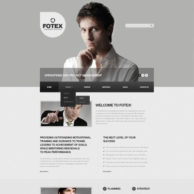 Gray Management Company Drupal Template Drupal and Template - project manager spreadsheet templates