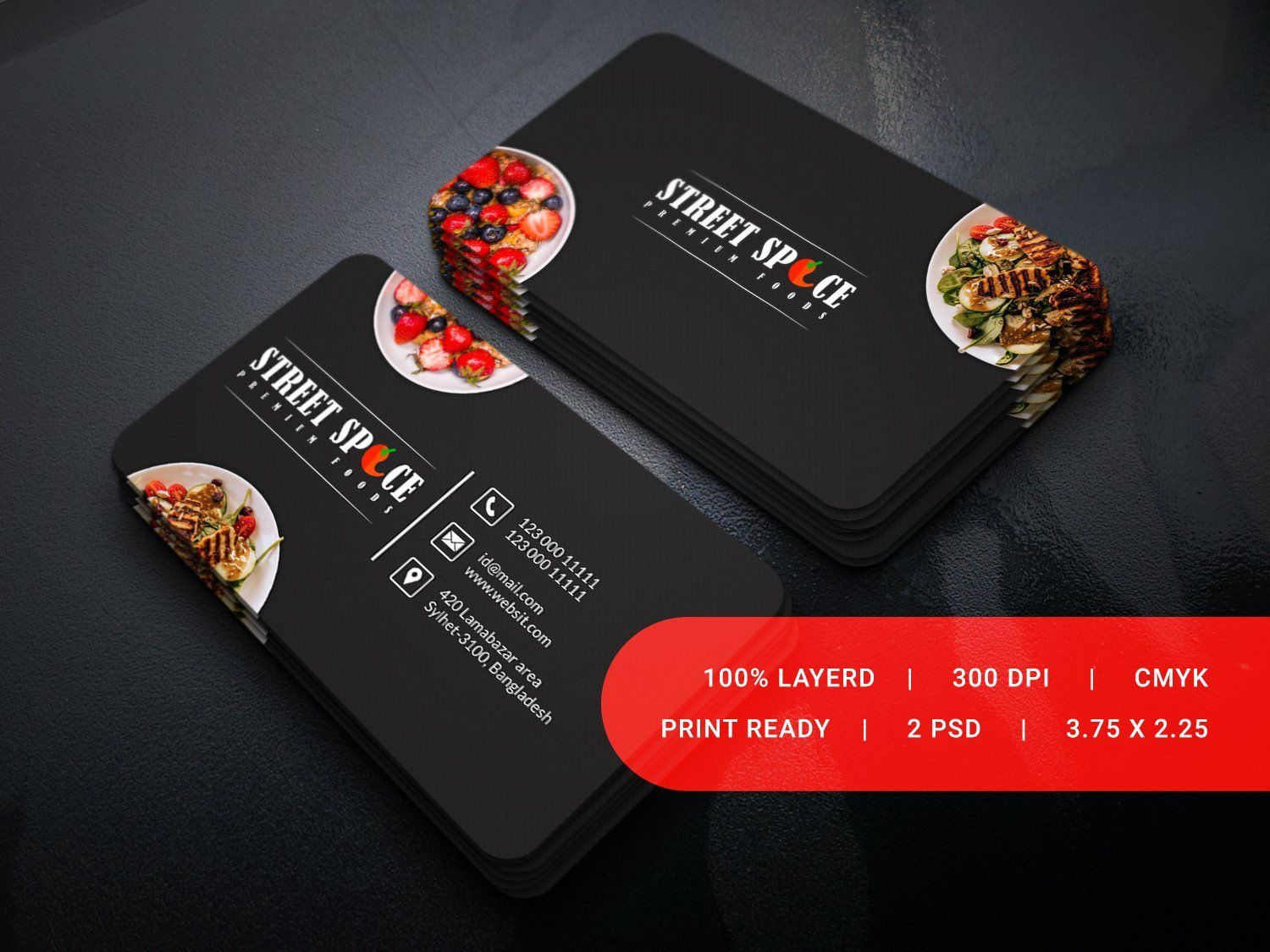 Food Business Card Street Spice Food Business Card Restaurant Business Cards Business Cards Creative