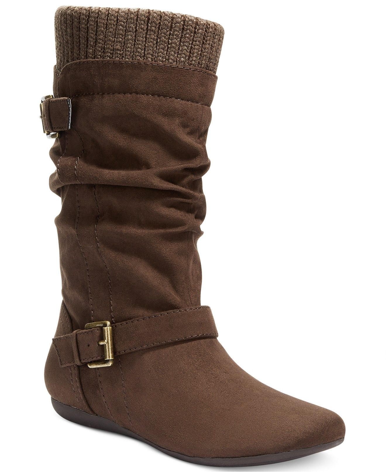 20c5e604ab648 Report Everton Slouchy Sweater Boots - Boots - Shoes - Macy s ...