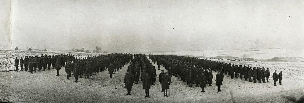 Original members still serving with a Canadian infantry brigade, 1914.