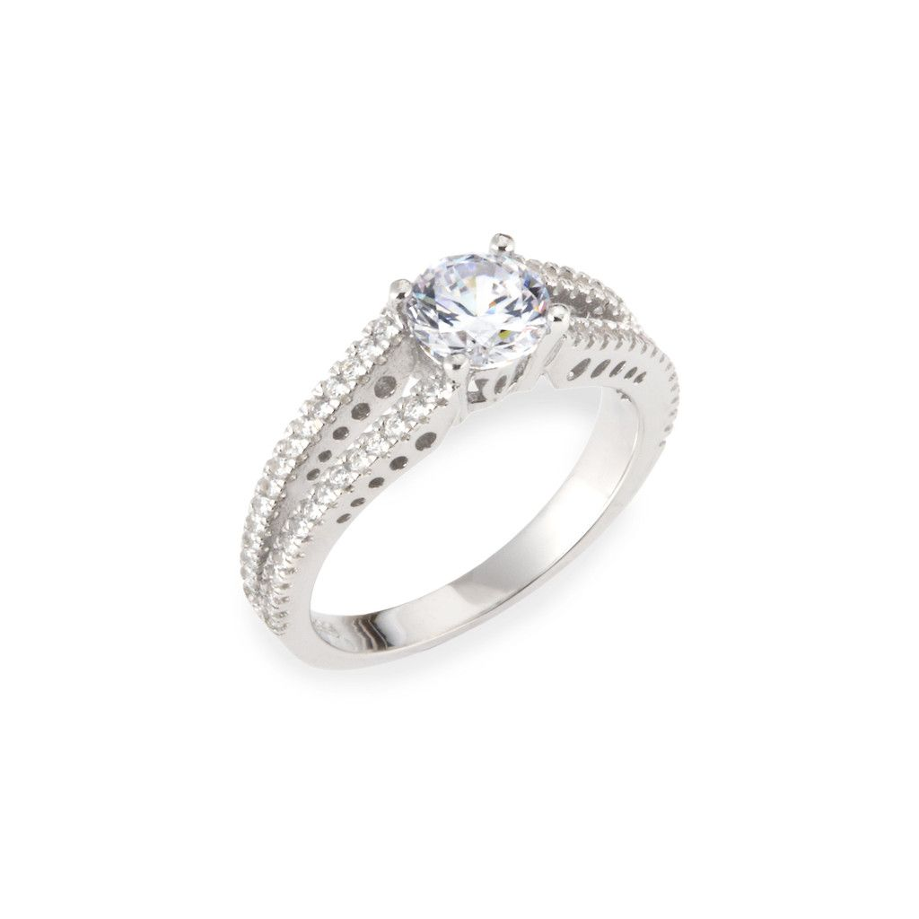 Women's 3.4 CTW Cubic Zirconia .925 Sterling Silver Engagement Ring