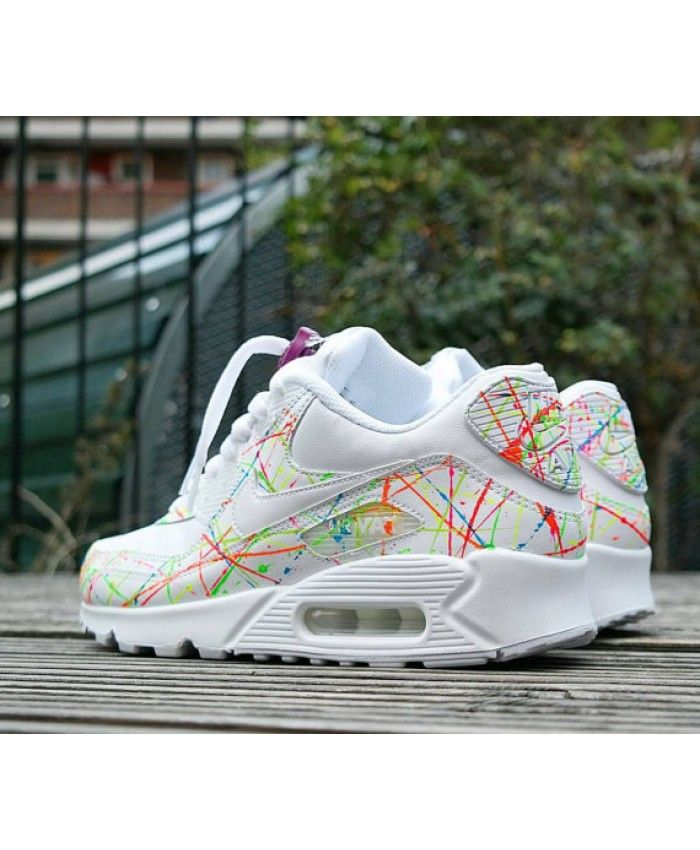on sale 67f65 e5bdf Nike Air Max 90 Leather Rxl Custom Blanche | pas cher chaussure nike ...