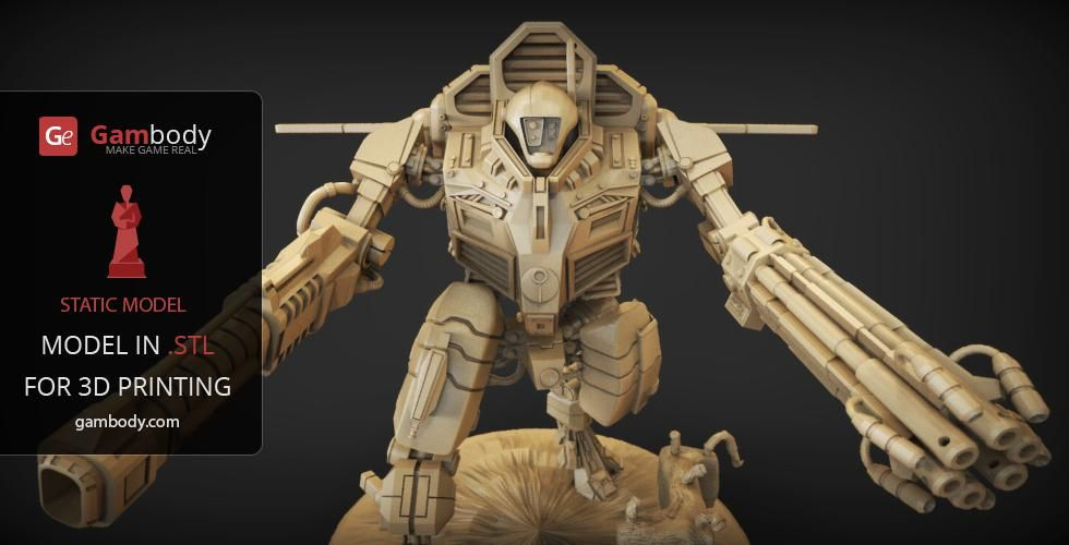 War Robot 3D Printing Model | Assembly | TAU XV109 Y'Vahra | Prints