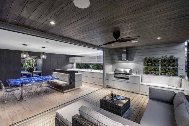 Small Brisbane Design Firm Wins Big In London In 2020 Outdoor Kitchen Design Indoor Outdoor Kitchen Outdoor Kitchen