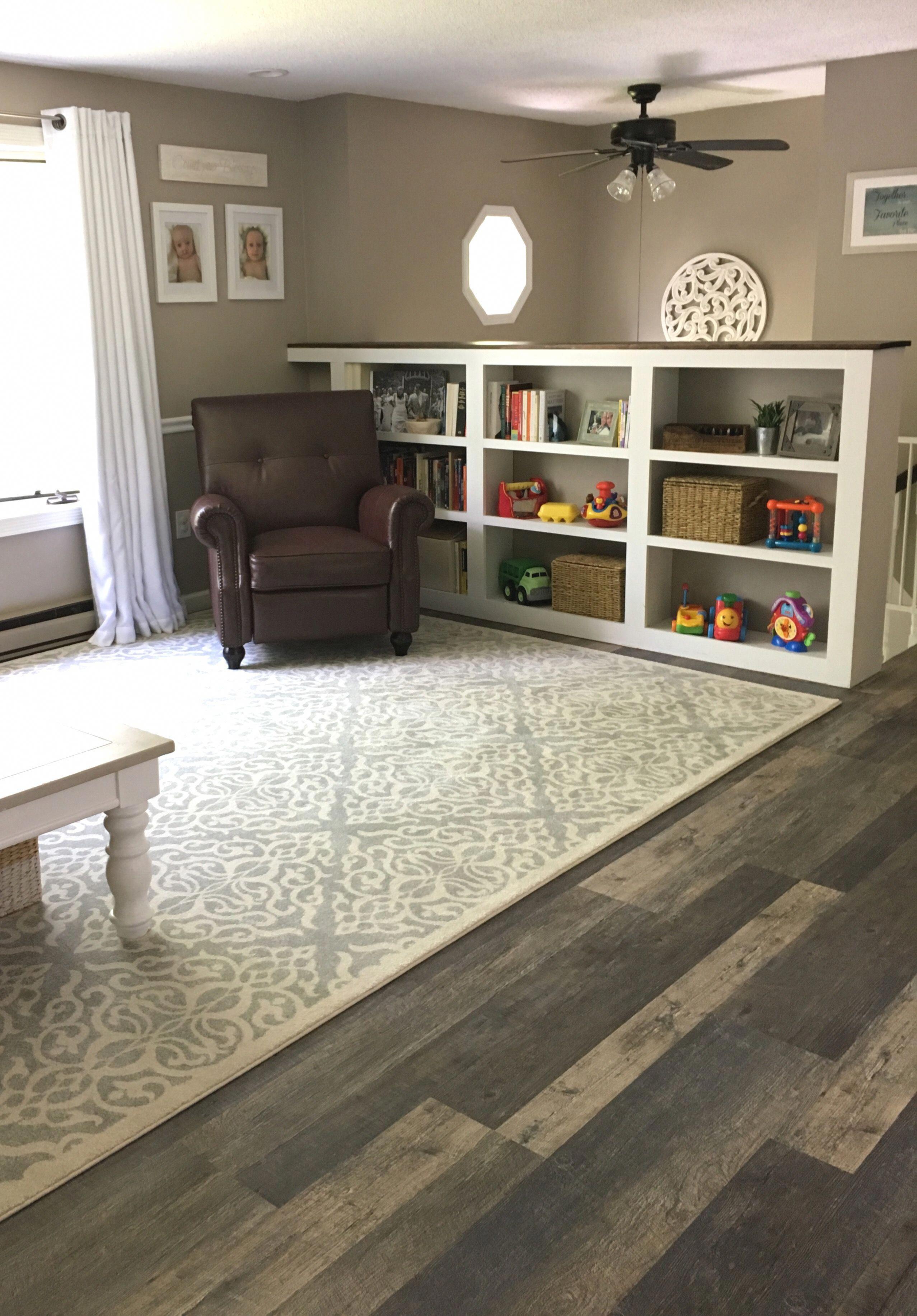 Raised Ranch/Split entry living room. Lifeproof flooring