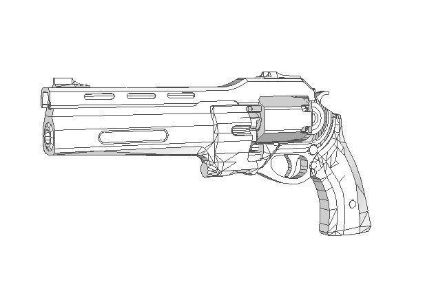 Destiny - The Last Word Revolver Paper Model Free Template