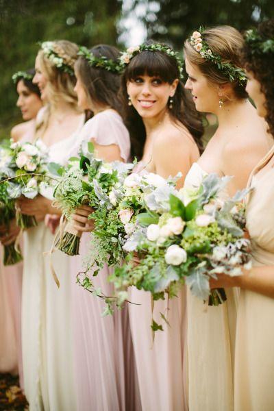 Boho bridesmaids: http://www.stylemepretty.com/new-york-weddings/2015/05/12/modern-upstate-new-york-wedding/ | Photography: Adam & Sam - http://cmostr.com/