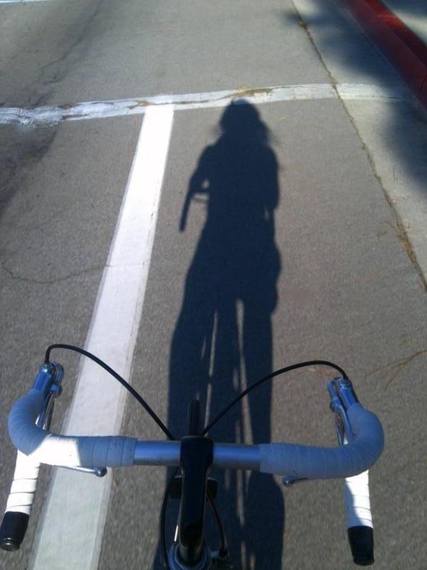 bike ride, road bike, shadow