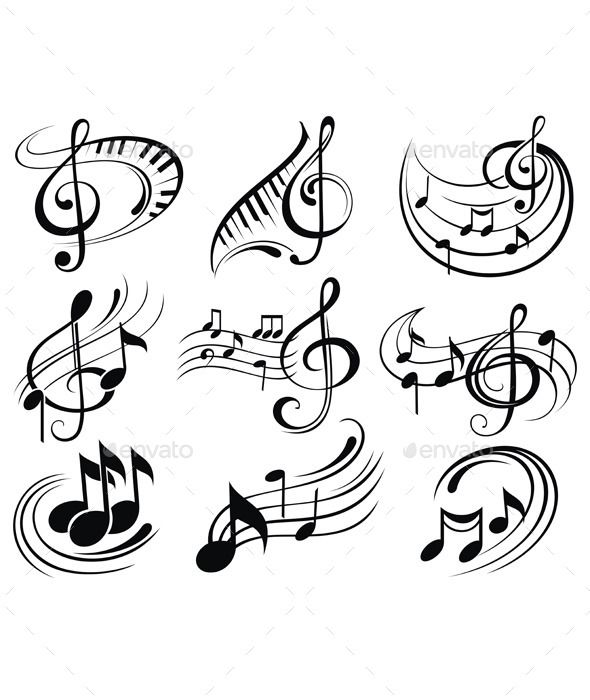 Music Notes Music Notes Drawing Music Notes Tattoo Music Notes Art