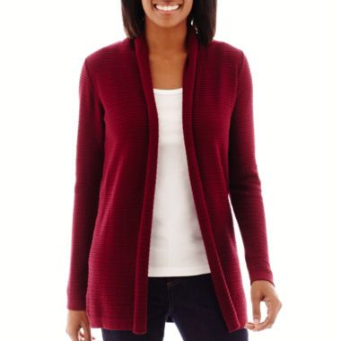 b8e29bfd29c7 St. John s Bay® Long-Sleeve Flyaway Cardigan found at  JCPenney ...