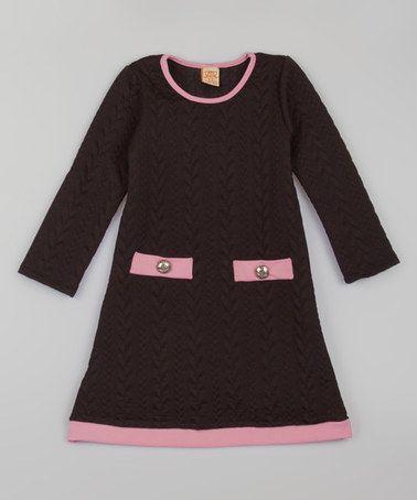 Black & Pink Sweater Dress - Toddler & Girls #zulily #zulilyfinds