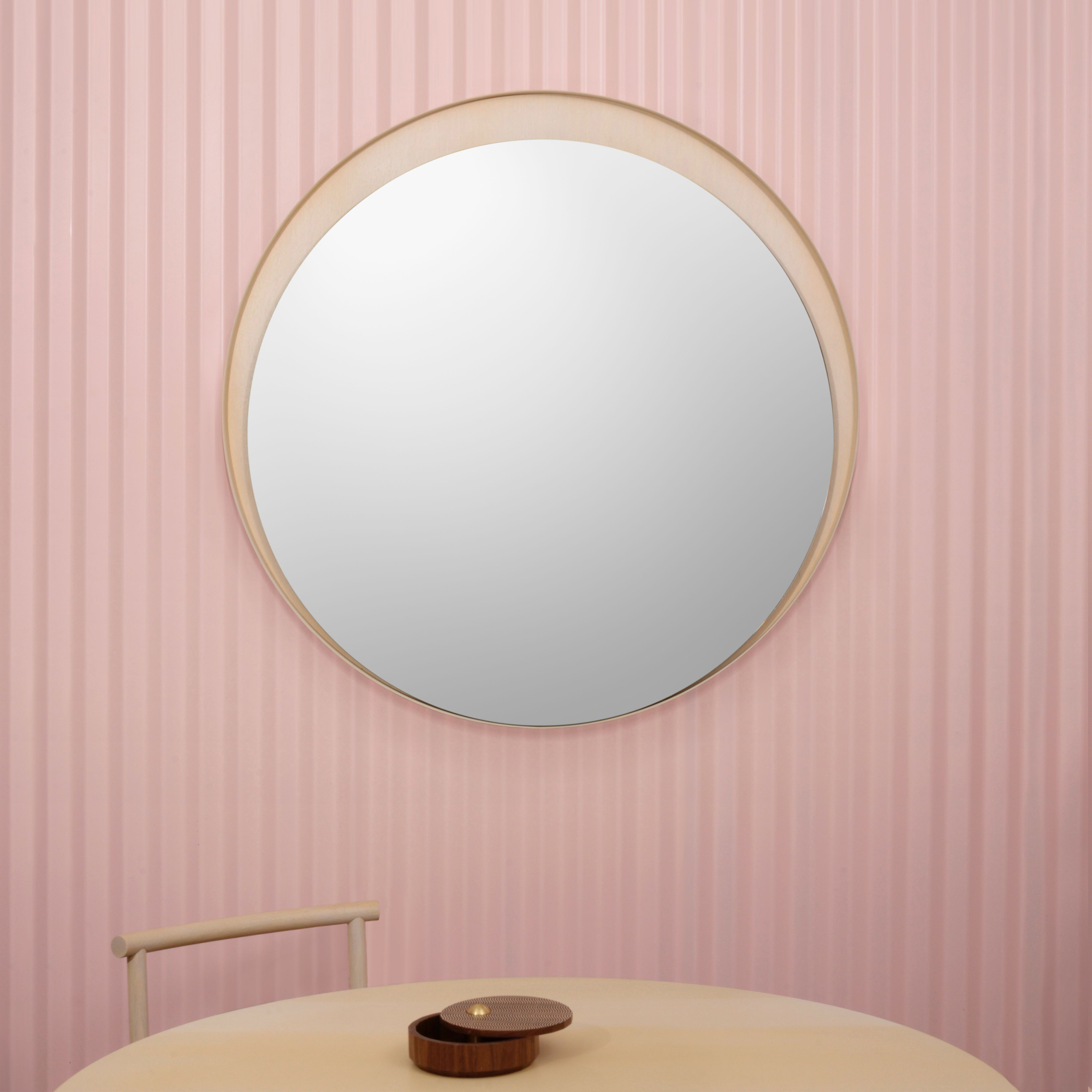 Lead Time 4weeks 6weeks Made To Order Materials Bleached White Oak Polyurethane Finish 1 4 Bronze Mirror Size Inc With Images Bronze Mirror Round Mirrors Mirror