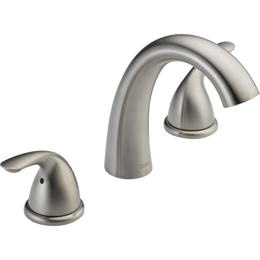 143 Delta Classic Stainless 2 Handle Adjustable Deck Mount Bathtub Faucet Roman Tub Faucets Tub Faucet Garden Tub