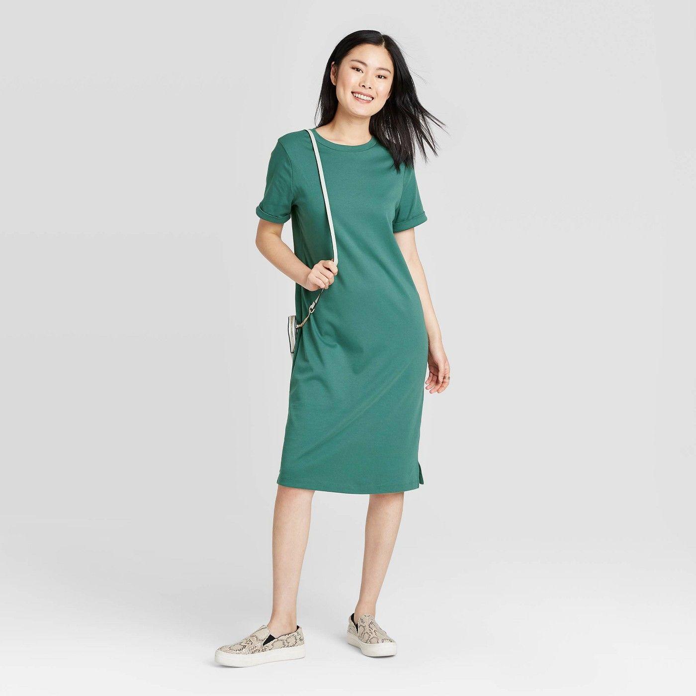 Women S Short Sleeve T Shirt Dress New Day Sponsored Sleeve Sponsored Short Women Green Tshirt Dress Cotton Tshirt Dress Midi Ruffle Dress [ 1400 x 1400 Pixel ]